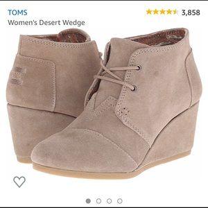 Tom's wedges suede beige